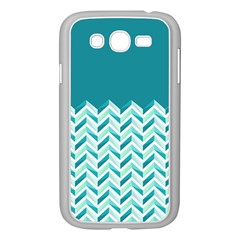 Zigzag pattern in blue tones Samsung Galaxy Grand DUOS I9082 Case (White)