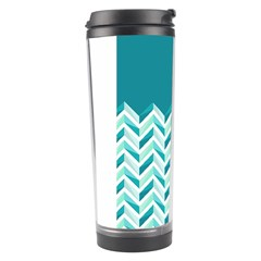 Zigzag pattern in blue tones Travel Tumbler
