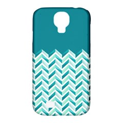 Zigzag pattern in blue tones Samsung Galaxy S4 Classic Hardshell Case (PC+Silicone)
