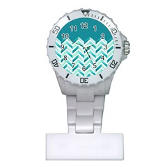 Zigzag pattern in blue tones Plastic Nurses Watch