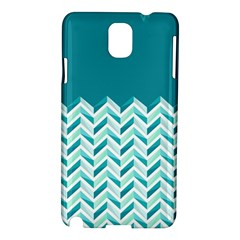 Zigzag pattern in blue tones Samsung Galaxy Note 3 N9005 Hardshell Case