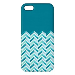 Zigzag pattern in blue tones iPhone 5S/ SE Premium Hardshell Case