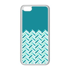 Zigzag pattern in blue tones Apple iPhone 5C Seamless Case (White)