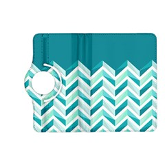 Zigzag pattern in blue tones Kindle Fire HD (2013) Flip 360 Case