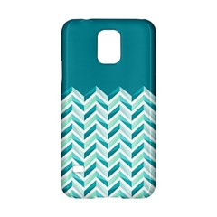 Zigzag pattern in blue tones Samsung Galaxy S5 Hardshell Case