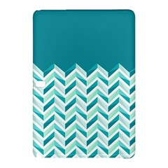 Zigzag pattern in blue tones Samsung Galaxy Tab Pro 12.2 Hardshell Case