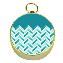 Zigzag pattern in blue tones Gold Compasses