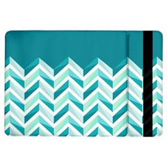 Zigzag pattern in blue tones iPad Air Flip