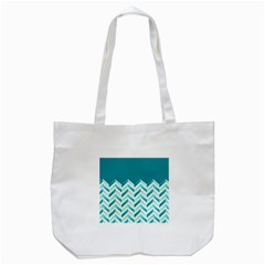 Zigzag pattern in blue tones Tote Bag (White)