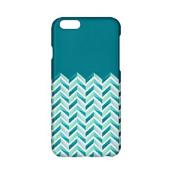 Zigzag pattern in blue tones Apple iPhone 6/6S Hardshell Case