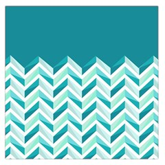 Zigzag pattern in blue tones Large Satin Scarf (Square)