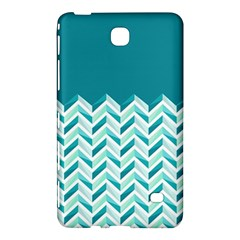 Zigzag pattern in blue tones Samsung Galaxy Tab 4 (8 ) Hardshell Case