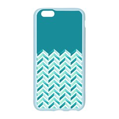 Zigzag pattern in blue tones Apple Seamless iPhone 6/6S Case (Color)