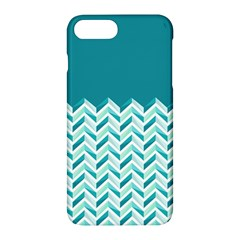 Zigzag pattern in blue tones Apple iPhone 7 Plus Hardshell Case