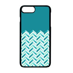 Zigzag pattern in blue tones Apple iPhone 7 Plus Seamless Case (Black)