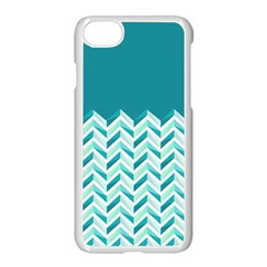 Zigzag Pattern In Blue Tones Apple Iphone 7 Seamless Case (white)