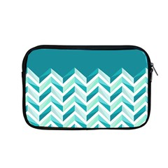 Zigzag Pattern In Blue Tones Apple Macbook Pro 13  Zipper Case