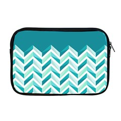 Zigzag pattern in blue tones Apple MacBook Pro 17  Zipper Case