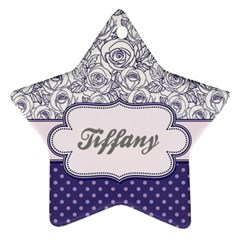 Pattern Purple 2 Star Ornament (two Sides)