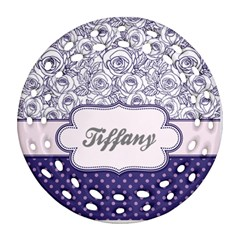 Pattern Purple 2 Ornament (round Filigree)