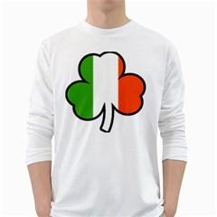 Men s Long Sleeve T-shirt (White)