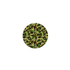 Camo Woodland 1  Mini Buttons