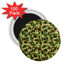 Camo Woodland 2.25  Magnets (100 pack)