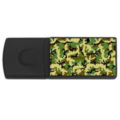 Camo Woodland USB Flash Drive Rectangular (1 GB)
