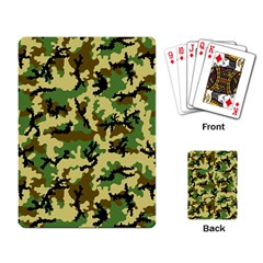Camo Woodland Playing Card