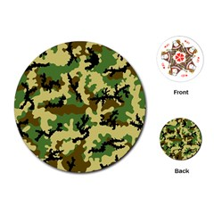 Camo Woodland Playing Cards (Round)