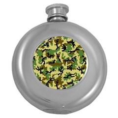 Camo Woodland Round Hip Flask (5 oz)