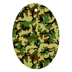 Camo Woodland Oval Ornament (Two Sides)