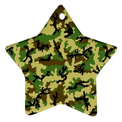 Camo Woodland Star Ornament (Two Sides)