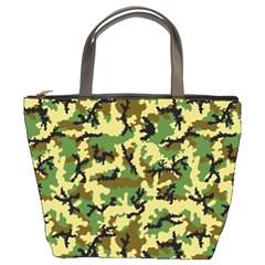 Camo Woodland Bucket Bags