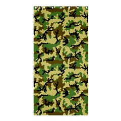 Camo Woodland Shower Curtain 36  x 72  (Stall)