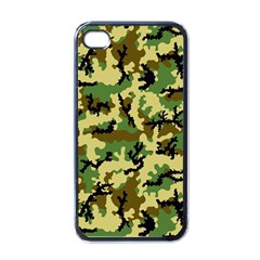 Camo Woodland Apple iPhone 4 Case (Black)