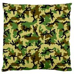 Camo Woodland Large Cushion Case (Two Sides)