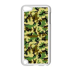 Camo Woodland Apple iPod Touch 5 Case (White)