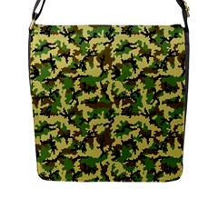 Camo Woodland Flap Messenger Bag (l)