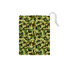 Camo Woodland Drawstring Pouches (Small)