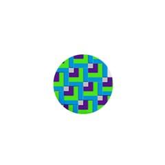 Geometric 3d Mosaic Bold Vibrant 1  Mini Magnets