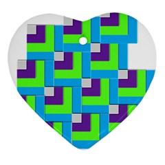 Geometric 3d Mosaic Bold Vibrant Ornament (Heart)
