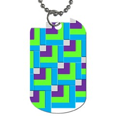 Geometric 3d Mosaic Bold Vibrant Dog Tag (one Side)