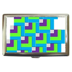 Geometric 3d Mosaic Bold Vibrant Cigarette Money Cases