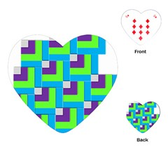 Geometric 3d Mosaic Bold Vibrant Playing Cards (Heart)