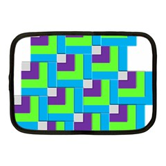 Geometric 3d Mosaic Bold Vibrant Netbook Case (medium)