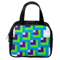 Geometric 3d Mosaic Bold Vibrant Classic Handbags (one Side)
