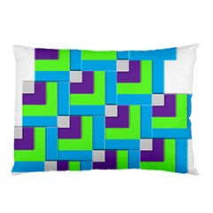 Geometric 3d Mosaic Bold Vibrant Pillow Case