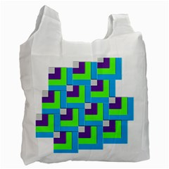 Geometric 3d Mosaic Bold Vibrant Recycle Bag (one Side)