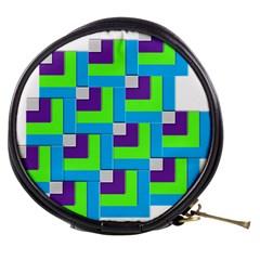 Geometric 3d Mosaic Bold Vibrant Mini Makeup Bags